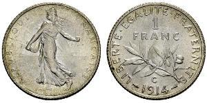 1 Franc France Copper/Silver/Nickel