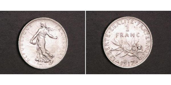 1 Franc France Copper/Silver/Nickel