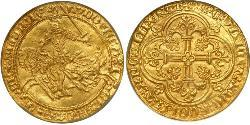 1 Franc County of Flanders (862-1795) Gold Louis II of Flanders (1330- 1384)