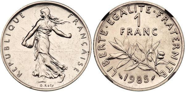 1 Franc French Fifth Republic (1958 - ) Gold