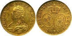1 Franc Kingdom of France (843-1791) Gold Ludwig XV (1710-1774)