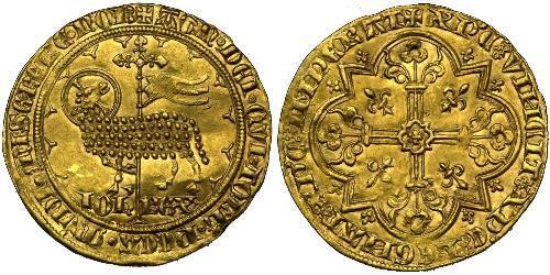 1 Franc Kingdom of France (843-1791) Gold John II of France (1319-1364)