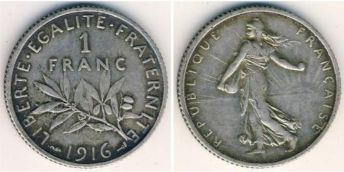 1 Franc Frankreich Kupfer/Nickel