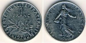 1 Franc Francia Níquel/Cobre/Plata