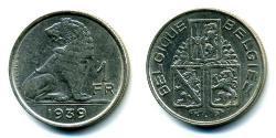 1 Franc Belgium Nickel
