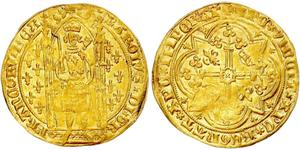 1 Franc Kingdom of France (843-1791) Or Charles V of France (1338 - 1380)