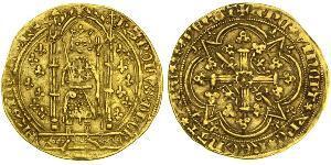 1 Franc Francia medioevale (843-1791) Oro Charles V of France (1338 - 1380)