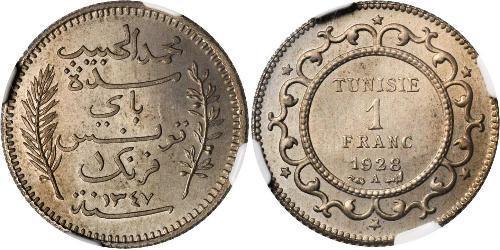 1 Franc Túnez Plata