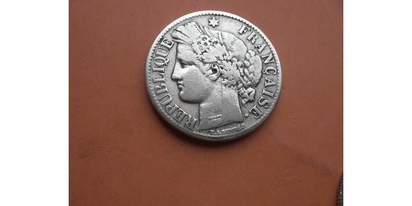 1 Franc Tercera República Francesa (1870-1940)  Plata
