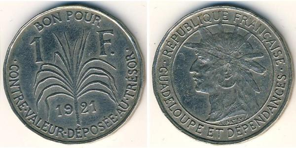 1 Franc Guadalupa Rame/Nichel