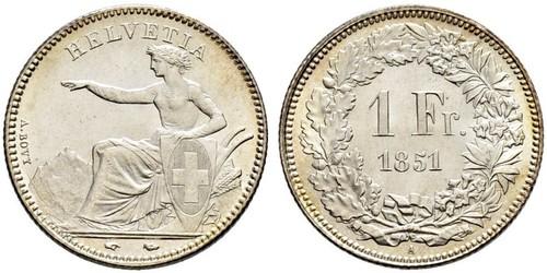 1 Franc Schweiz Silber