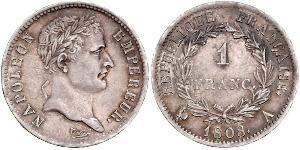 1 Franc First French Empire (1804-1814) Silver