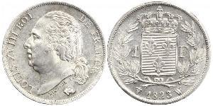 1 Franc Kingdom of France (1815-1830) / France Silver Louis XVIII of France (1755-1824)