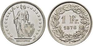 1 Franc Switzerland Silver