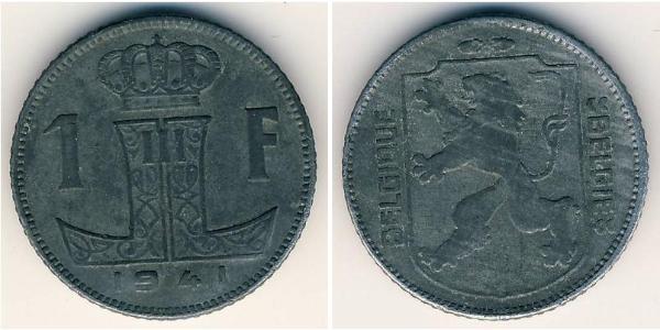 1 Franc Belgium Zinc