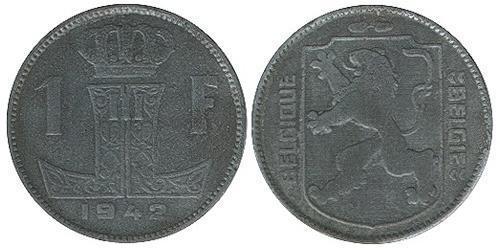 1 Franc Belgio Zinco