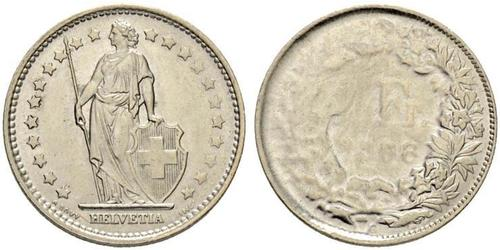 1 Franc 瑞士