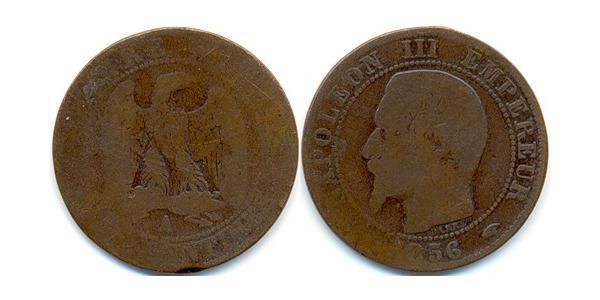 1 Franc Second French Empire (1852-1870)  Napoleon III (1808-1873)