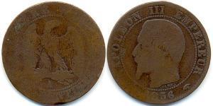 1 Franc Segundo Imperio francés (1852-1870)  Napoleon III (1808-1873)