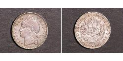 1 Franco Dominican Republic Silver