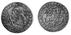 1 Goldgulden Principality of Ansbach (1398–1792) Gold Joachim Ernst, Margrave of Brandenburg-Ansbach (1583 – 1625)