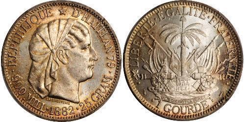 1 Gourde Haiti 銀