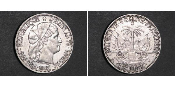 1 Gourde Haiti Silver