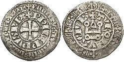 1 Groat 法国 銀 腓力四世 (法兰西)(1268 -1314)