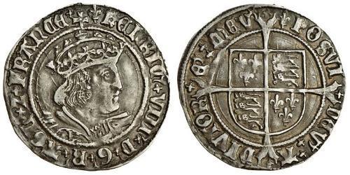 1 Groat 法国 銀