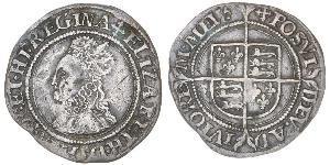 1 Groat 英格兰王国 銀 Elizabeth I (1533-1603)