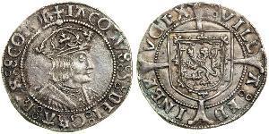 1 Groat Kingdom of Scotland (843-1707) 銀 James V of Scotland (1512-1542)