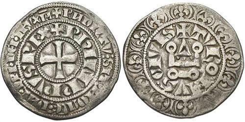 1 Groat France Argent Philippe IV de France(1268 -1314)