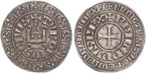 1 Groat Frankreich Silber Philip IV (1268 -1314)
