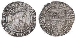 1 Groat Kingdom of England (927-1649,1660-1707) Silver Henry VIII (1491 - 1547)