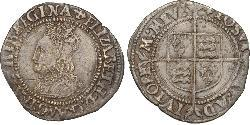 1 Groat Kingdom of England (927-1649,1660-1707) Silver Elizabeth I (1533-1603)