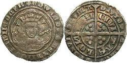 1 Groat Kingdom of England (927-1649,1660-1707) Silver Edward III (1312-1377)