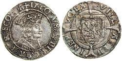 1 Groat Kingdom of Scotland (843-1707) Silver James V of Scotland (1512-1542)