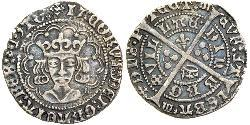 1 Groat Kingdom of Scotland (843-1707) Silver James IV of Scotland (1473-1513)