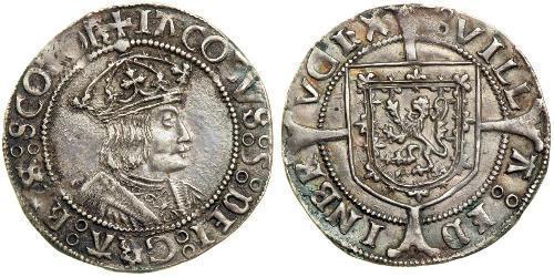 1 Groat Kingdom of Scotland (843-1707) Silver James V of Scotland (1512-1542)