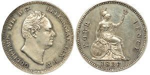 1 Groat United Kingdom of Great Britain and Ireland (1801-1922) Silver William IV (1765-1837)