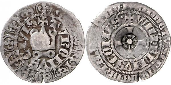 1 Gros Tournois Kingdom of France (843-1791) Argent Philippe V le Long (1292 - 1322)