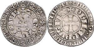 1 Gros Tournois Kingdom of France (843-1791) Silver Philip V of France (1292 - 1322)