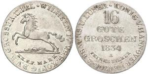 1 Groschen Ганновер Серебро
