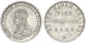 1 Groschen Королівство Пруссія (1701-1918) Срібло Фрідрих Вільгельм III, король Пруссії  (1770 -1840)