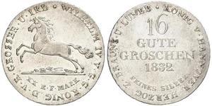 1 Groschen 汉诺威 銀