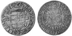1 Groschen Principato di Transilvania (1571-1711) Argento Gabriele Bethlen (1580-1629)