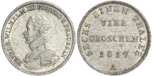 1 Groschen Regno di Prussia (1701-1918) Argento Federico Guglielmo III di Prussia  (1770 -1840)