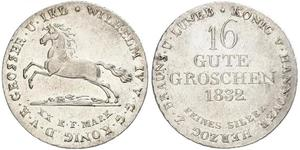 1 Groschen Hannover Silber