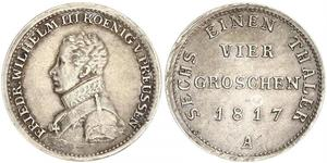 1 Groschen Königreich Preußen (1701-1918) Silber Friedrich Wilhelm III (1770 -1840)