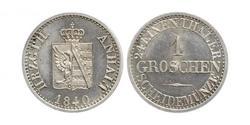 1 Groschen Anhalt-Bernburg (1603 - 1863) Silver Alexander Karl, Duke of Anhalt-Bernburg (1805 – 1863)